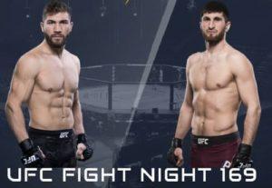 Видео боя Магомед Анкалаев - Ион Куцелаба / UFC Fight Night 169