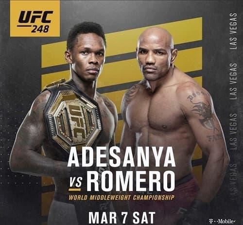 Видео боя Исраэль Адесанья - Йоэль Ромеро / UFC 248