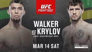 Видео боя Джонни Уокер - Никита Крылов / UFC Fight Night 170