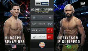 Видео боя Джозеф Бенавидес - Дейвисон Фигейреду / UFC Fight Night 169