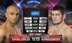 Видео боя Хабиб Нурмагомедов — Камал Шалорус / UFC on FX