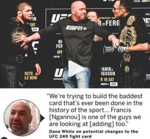 Дана Уайт планирует крутейший турнир UFC в истории спорта