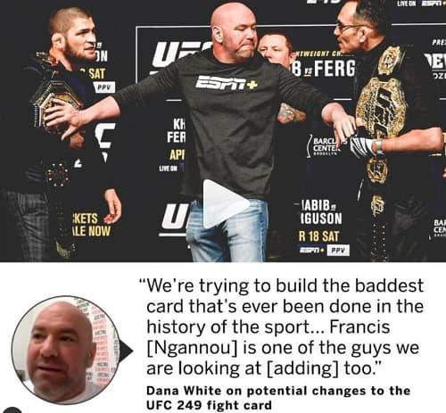 Дана Уайт планирует провести крутейший турнир UFC в истории спорта