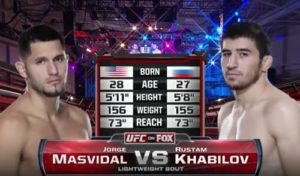 Видео боя Рустам Хабилов - Хорхе Масвидаль / UFC Fight Night 31