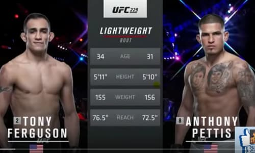 Видео боя Тони Фергюсон - Энтони Петтис / UFC 229