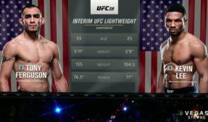 Видео боя Тони Фергюсон - Кевин Ли / UFC 216