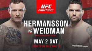 UFC Fight Night 174 / Херманссон - Вайдман