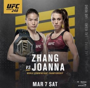 Видео боя Вейли Чжан - Йоанна Енджейчик / UFC 248