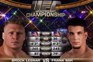 Видео боя Фрэнк Мир - Брок Леснар / UFC 100