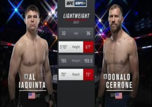 Видео боя Дональд Серроне - Эл Яквинта / UFC Fight Night 151