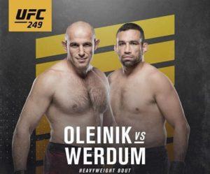 Видео боя Алексей Олейник - Фабрисиу Вердум / UFC 249