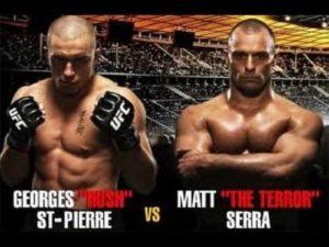 Видео боя Жорж Сен-Пьер - Мэтт Серра 2 / UFC 83