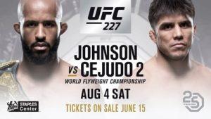 Видео боя Генри Сехудо - Деметриус Джонсон 2 / UFC 227