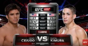 Видео боя Генри Сехудо - Дастин Кимура / UFC on Fox