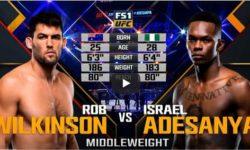 Видео боя Израиль Адесанья — Роб Уилкинсон / UFC 221