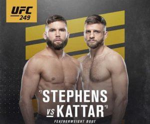 Видео боя Джереми Стивенс - Келвин Каттар / UFC 249