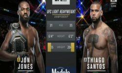 Видео боя Джон Джонс — Тиагу Сантус / UFC 239