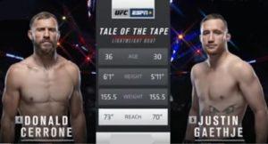 Видео боя Джастин Гейджи - Дональд Серроне / UFC Fight Night 158