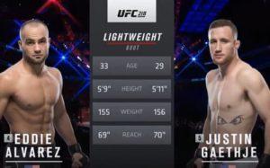 Видео боя Джастин Гейджи - Эдди Альварес / UFC 218