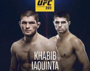 Видео боя Хабиб Нурмагомедов - Эл Яквинта / UFC 223