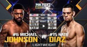 Видео боя Нейт Диаз - Майкл Джонсон / UFC on FOX