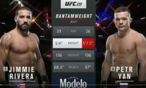 Видео боя Пётр Ян - Джимми Ривера / UFC 238