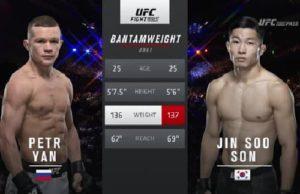 Видео боя Пётр Ян - Джин Су Сон / UFC Fight Night 136