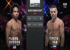 Видео боя Пётр Ян - Джон Додсон / UFC Fight Night 145