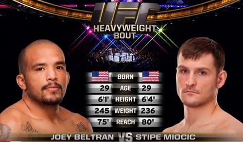 Видео боя Стипе Миочич - Джоуи Бельтран / UFC 136