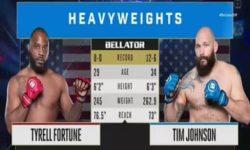 Видео боя Тимоти Джонсон — Тайрелл Фортун / Bellator 239
