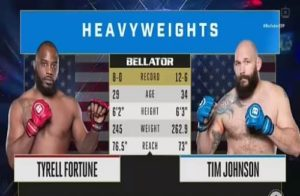Видео боя Тимоти Джонсон - Тайрелл Фортун / Bellator 239