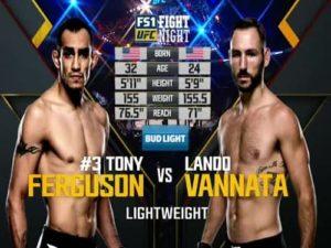 Видео боя Тони Фергюсон - Лэндо Ванната / UFC Fight Night 91