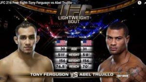 Видео боя Тони Фергюсон - Абель Трухильо / UFC 181