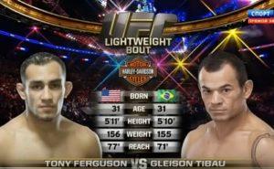 Видео боя Тони Фергюсон - Глейсон Тибау / UFC 184