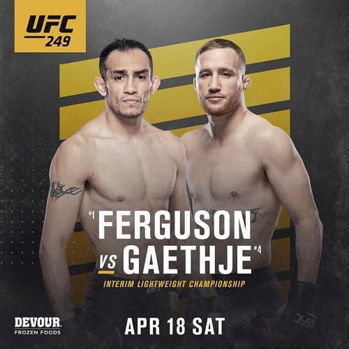 UFC 249 - Прямая трансляция - Тони Фергюнсон - Джастин Гейджи