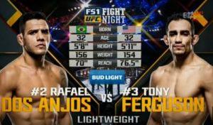 Видео боя Тони Фергюсон - Рафаэль Дос Аньос / UFC Fight Night 98