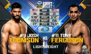 Видео боя Тони Фергюсон - Джош Томсон / UFC Fight Night 71