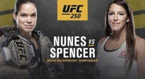 Кард турнира: UFC 250 Аманда Нунис - Фелиция Спенсер