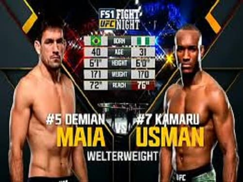 Видео боя Камару Усман - Демиан Майя / UFC Fight Night 129