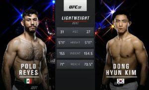 Видео боя Поло Рейес - Дон Хён Ким / UFC 199
