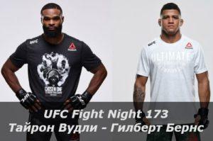UFC: перенос турнира UFC Fight Night 173 с 23 на 30 мая