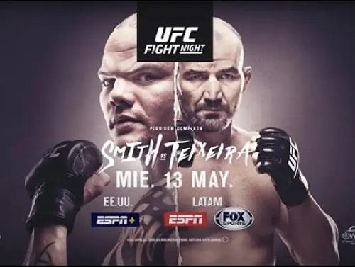 UFC Fight Night 171 - Прямая трансляция - Энтони Смит - Гловер Тейшейра