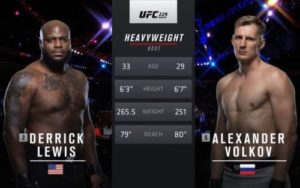 Full fight video: Alexander Volkov vs. Derrick Lewis / UFC 229