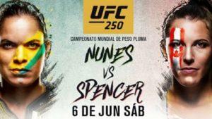 Видео боя Аманда Нунис - Фелиция Спенсер / UFC 250