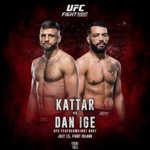 UFC Fight Night: Дэн Идж - Кэлвин Каттар