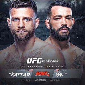 UFC Fight Night: Дэн Идж - Келвин Каттар