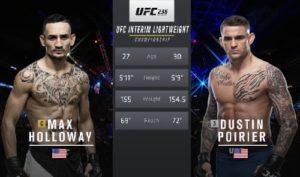 Видео боя Дастин Пуарье - Макс Холлоуэй / UFC 236