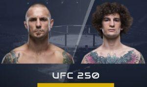 Видео боя Эдди Вайнленд - Шон О'Мэлли / UFC 250