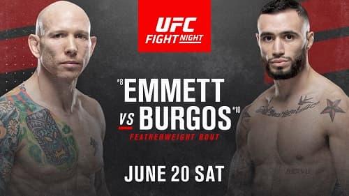 Видео боя Джош Эмметт - Шейн Бургос / UFC on ESPN 11