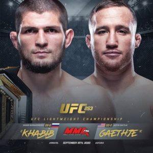 UFC 253: Хабиб Нурмагомедов - Джастин Гейджи